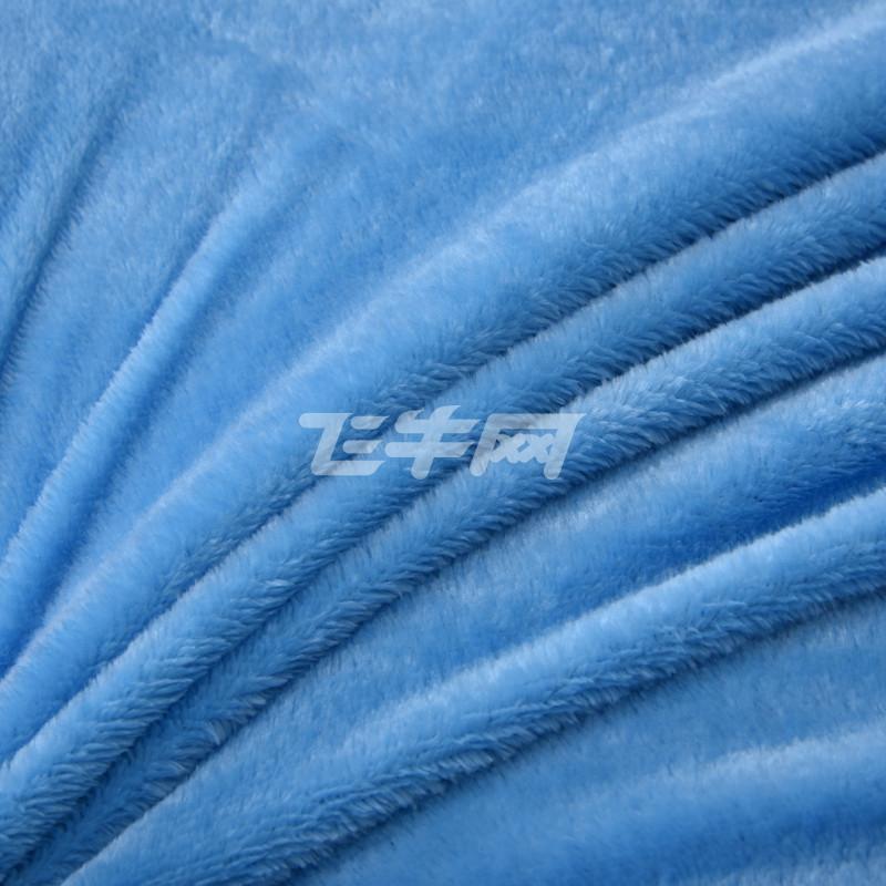 vhe 床上用品毯子 空调毯 法莱绒纯色毛毯 深蓝色 200