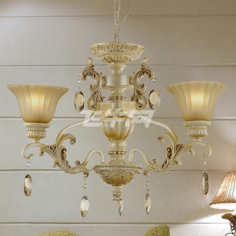 丹妮欧式大吊灯 简欧客厅灯树脂卧室灯 餐厅灯水晶灯具灯饰0024价格