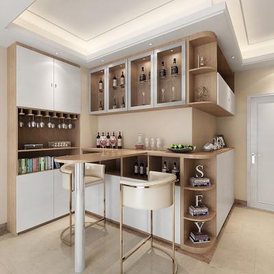 sogal索菲亚 衣柜 现代简约风格餐厅入户柜玄关柜餐酒柜吧台组合 全屋