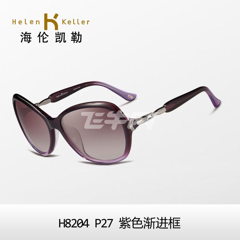 海伦凯勒太阳镜 时尚潮大框圆脸太阳镜图片