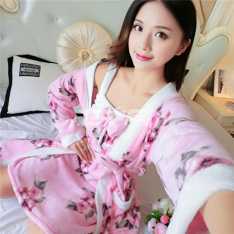 睡衣两件套长袖女图片