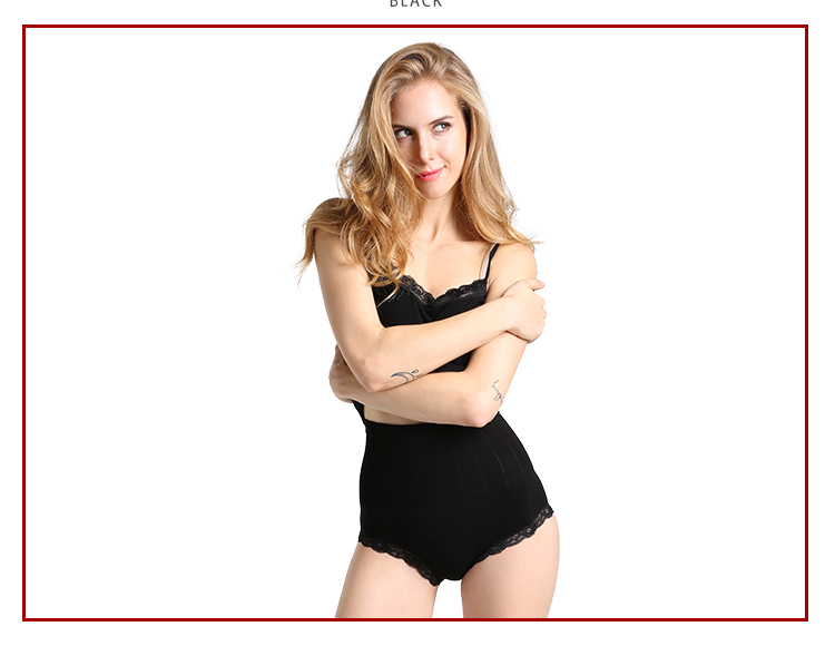 浪莎高腰产后收腹内裤女士三角裤春夏高腰塑身提臀燃脂收腹性感蕾丝短裤衩N1608正品