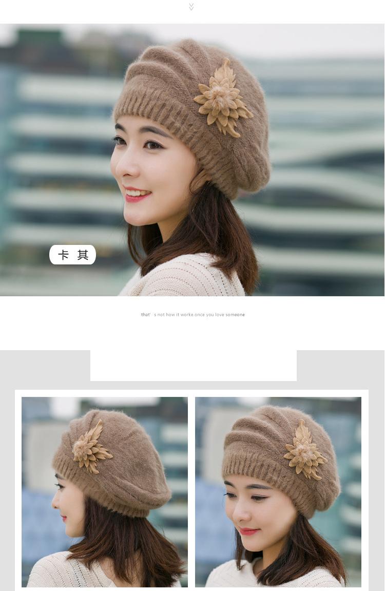 慈颜帽子 韩版保暖帽 纯色针织春秋冬季时尚产妇孕妇月子帽wy15