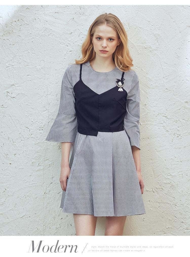 宽松女裙七分袖
