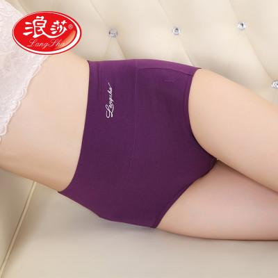 4条装浪莎女士内裤棉质无痕高腰收腹提臀三角裤性感短裤价格