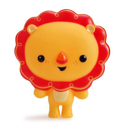 费雪 宝宝洗澡游泳戏水玩具 捏捏叫小狮子喷水小象卡通玩偶捏捏乐图片
