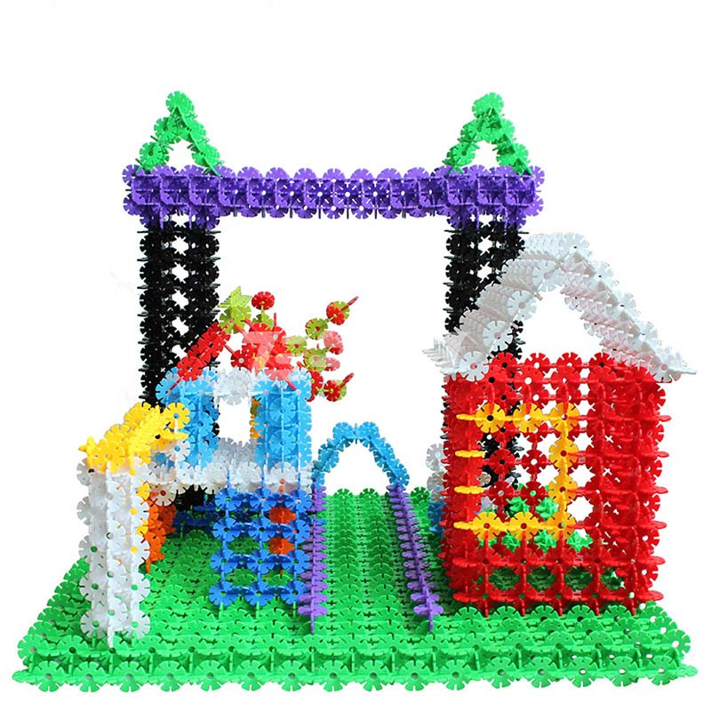 bwon正品 雪花片积木加厚儿童益智塑料拼插玩具积木
