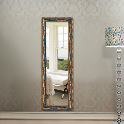法兰棋镜子 木质穿衣镜子全身镜 欧式试衣镜落地镜 卧室镜玄关镜k8559
