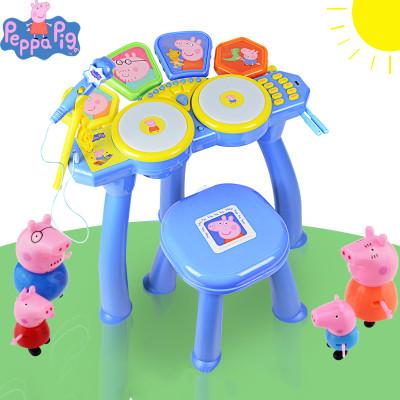贝芬乐小猪佩奇的电子鼓儿童初学打击乐器带话筒电子鼓玩具