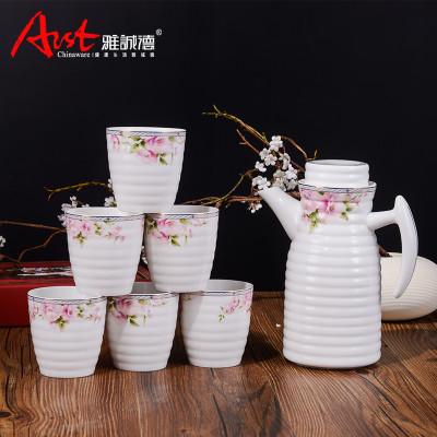 雅诚德 陶瓷冷水壶套装 家用凉水杯套装 耐热欧式水杯水具套装 1600ml图片
