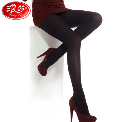 3条装浪莎丝袜防勾丝连裤袜春秋款中厚美腿打底袜薄款肉色显瘦袜子女价格