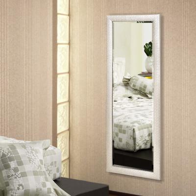 法兰棋镜子 白色木质框穿衣镜 欧式试衣镜 卧室全身落地镜玄关镜k8521