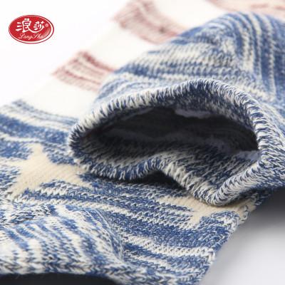 浪莎 5双装袜子男女情侣短袜船袜精梳棉运动薄款透气吸汗浅口隐形袜 休闲棉袜评价