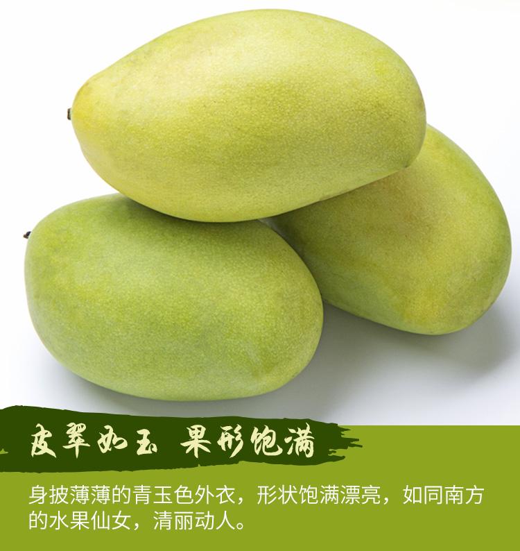 【杞农优食】越南玉芒新鲜水果 单果200-300g 5斤装 清甜核小进口芒果多少钱