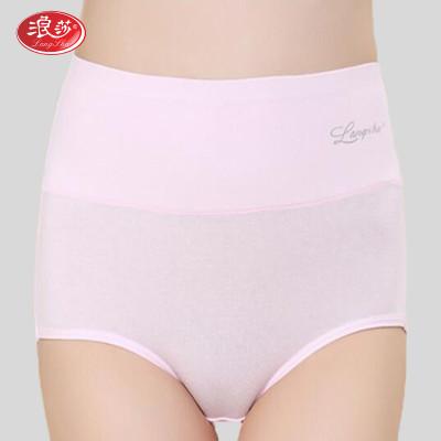 4条装浪莎女士内裤棉质无痕高腰收腹提臀三角裤性感短裤怎么样