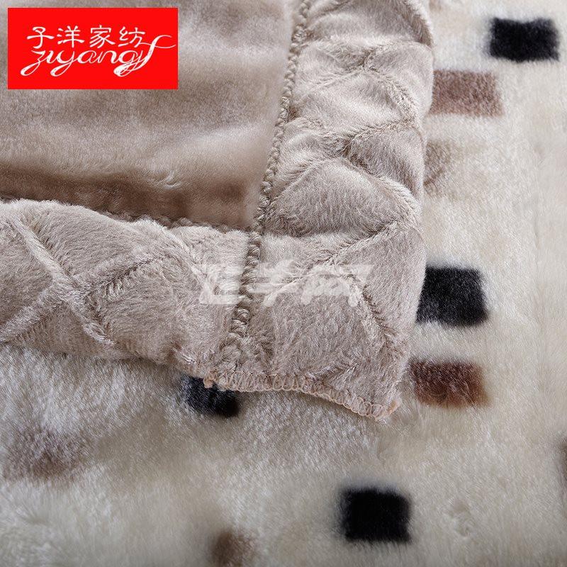 子洋家纺 拉舍尔毛毯加厚双人珊瑚绒毯子 秋冬季婚庆盖毯 双层保暖
