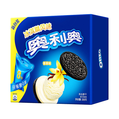 奥利奥 冰淇淋风味夹心饼干香草味 388g/盒