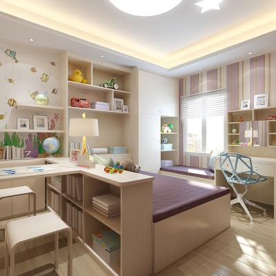 sogal索菲亚 衣柜 现代简约风格木质榻榻米床1房5用家居儿童房整体
