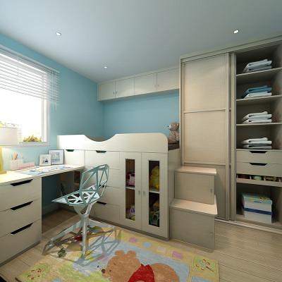 sogal索菲亚 衣柜 现代简约风格木质推拉门书桌收纳柜床儿童房整体