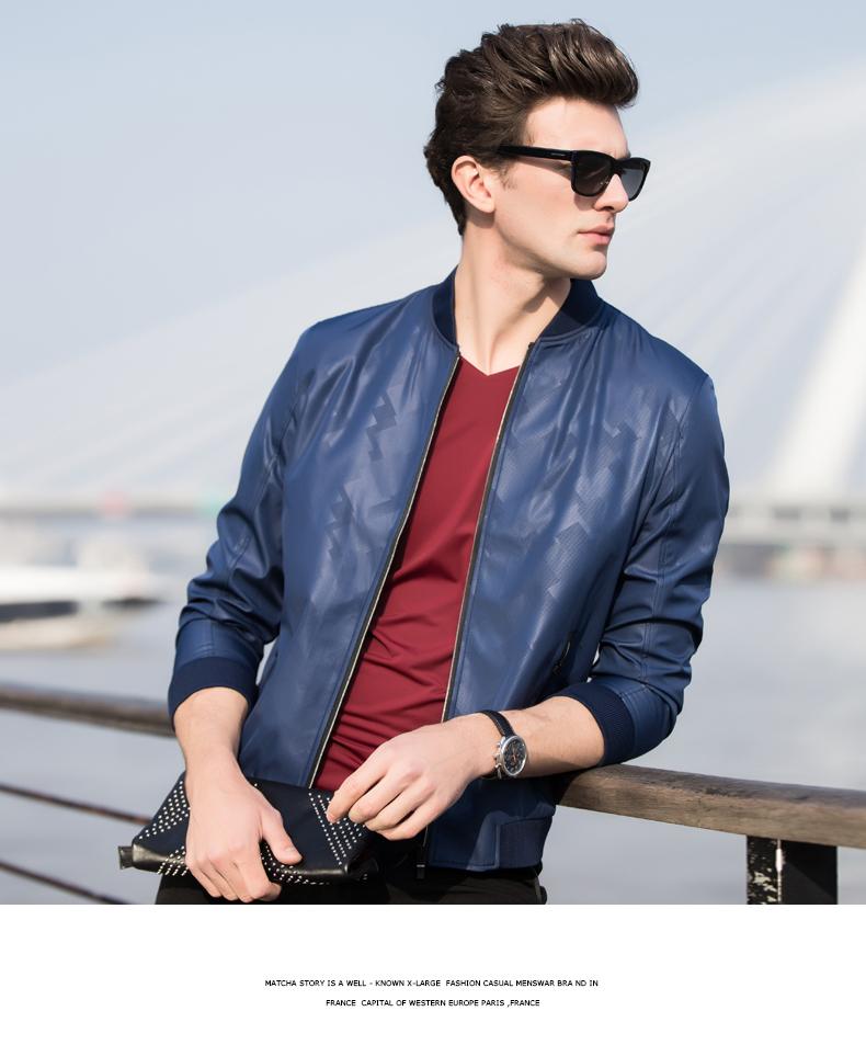 青年时尚男装_南极人春季男装新款夹克薄款青年时尚棒球领修身男士休闲外套1718