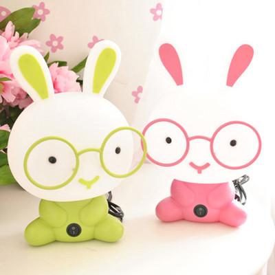 可爱男孩女孩儿童灯兔子磨砂护眼床头温馨小夜灯卧室