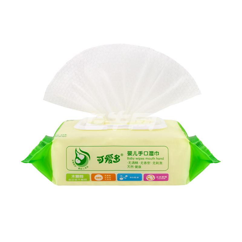 【满99减20】可爱多婴儿口手通用湿巾80抽95包