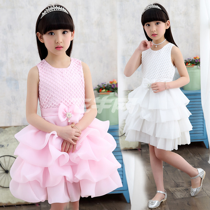 1点女童连衣裙夏装2017新款8儿童夏季公主裙9大童装女孩纱裙子10岁12
