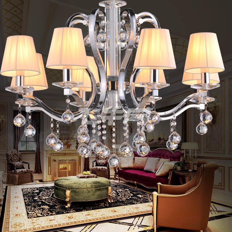 君泉 欧式吊灯 美式水晶灯 客厅卧室餐厅照明灯具灯饰
