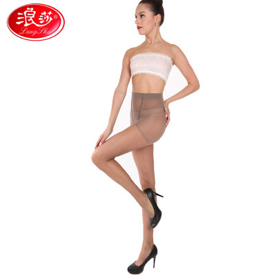 Z6860浪莎2条装拼裆连裤袜夏季防勾丝超薄款丝袜连裤袜隐形性感显瘦黑肉色女士长筒袜正品