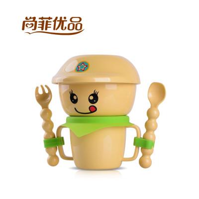 家典美 韩式儿童餐具叉勺套装 创意环保玉米宝宝碗卡通可爱婴儿碗