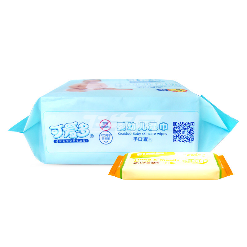 可爱多婴幼儿口手清洁湿巾85片5包 10抽10包