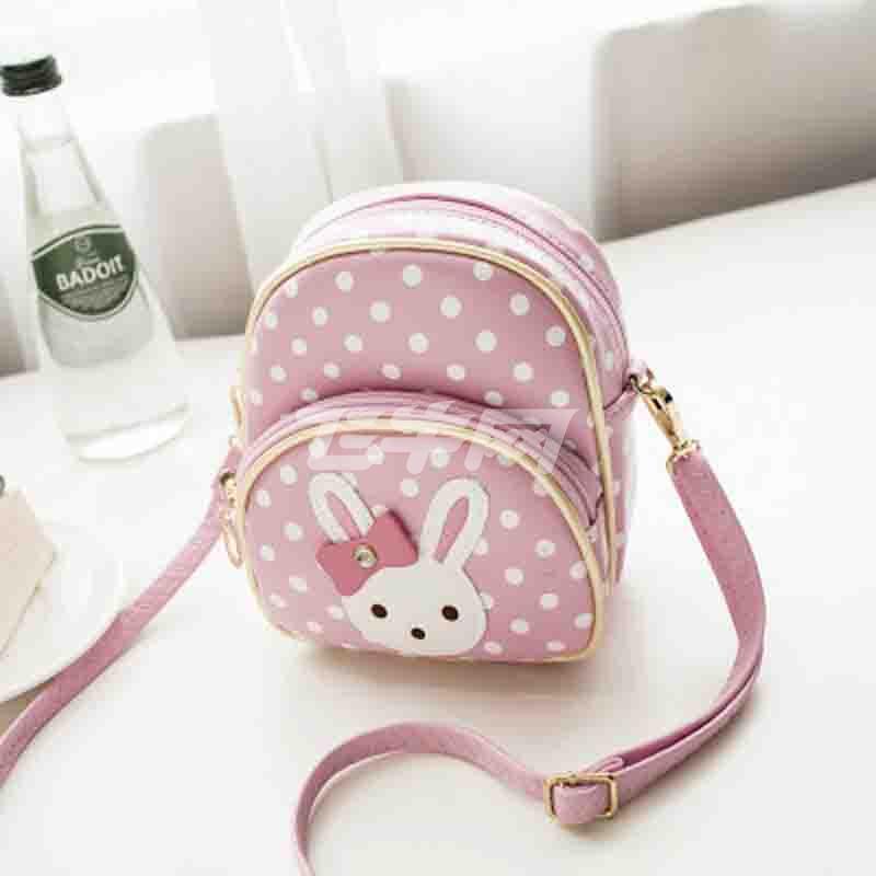 咯晶luojing 时尚儿童包包公主斜挎包韩版可爱小白兔卡通包包简约迷你