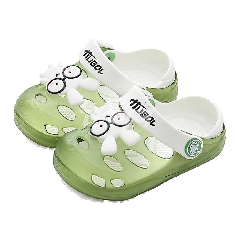 优优1点儿童拖鞋凉夏季男女童1-3岁防滑婴幼儿可爱小公主洞洞宝宝沙滩