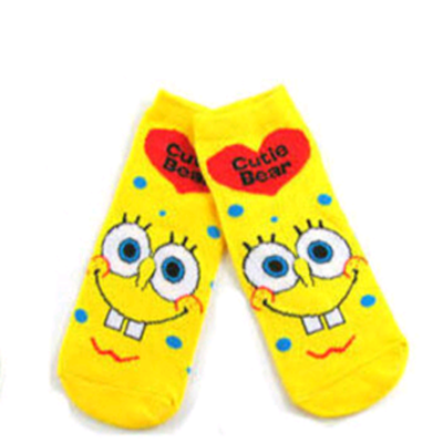 哈伊费舍女士短袜子可爱船袜卡通款袜子 均码 1双颜色混搭
